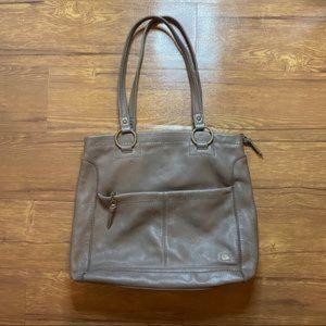 The Sak Brown Leather Shoulder Bag Purse Handbag